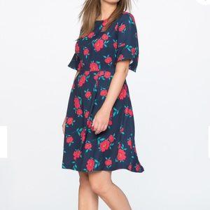 Draper James Eloquii floral fit & flare dress, 24